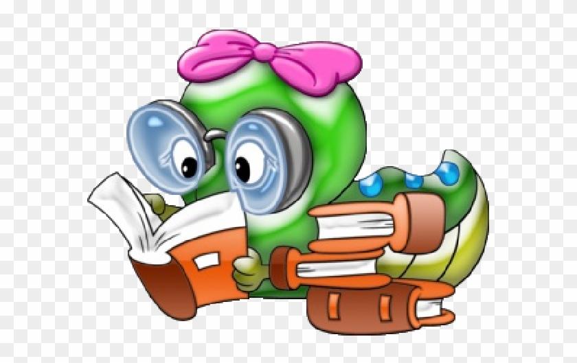 Funny Animal Cartoon School Pictures - Cute Pencil School Clipart #3585