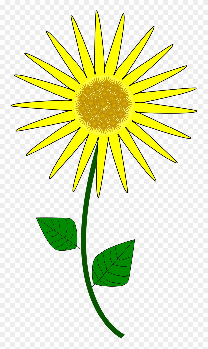Sunflower Clip Art 2 Clipartbold - Sunflower Cartoon #3607