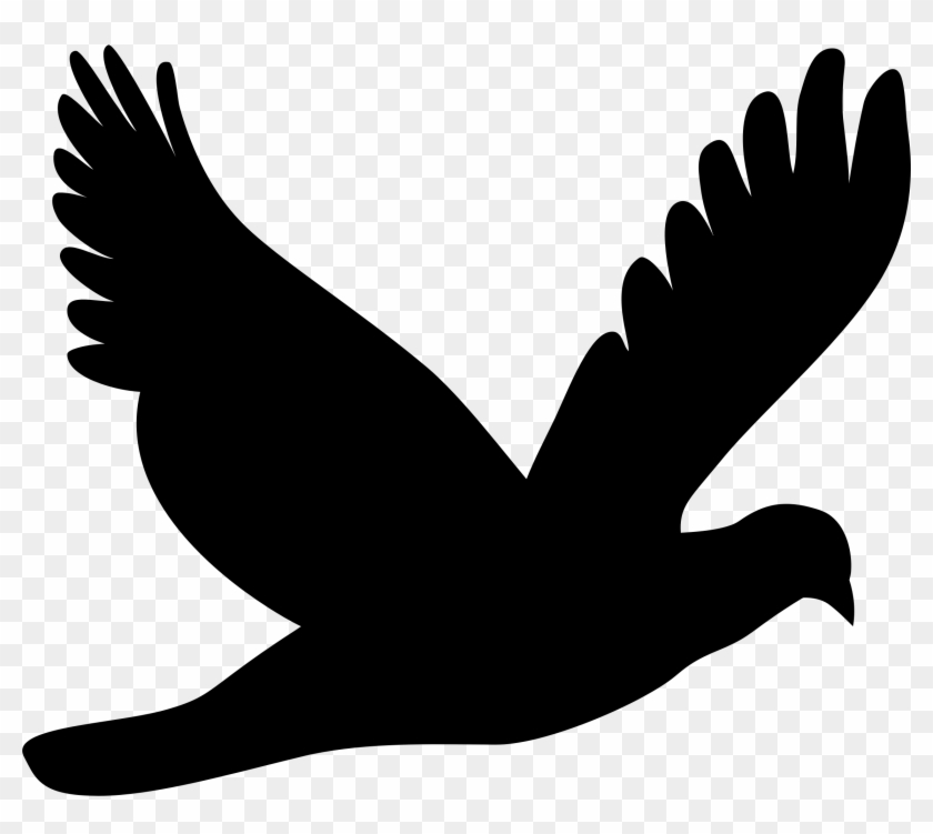 Clipart - Flying Dove Silhouette #3622