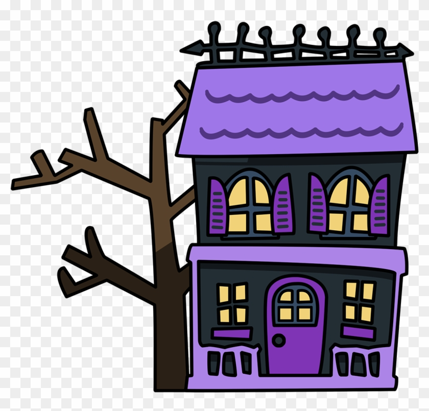 Haunted House Clip Art - Png Haunted House Clipart #3699