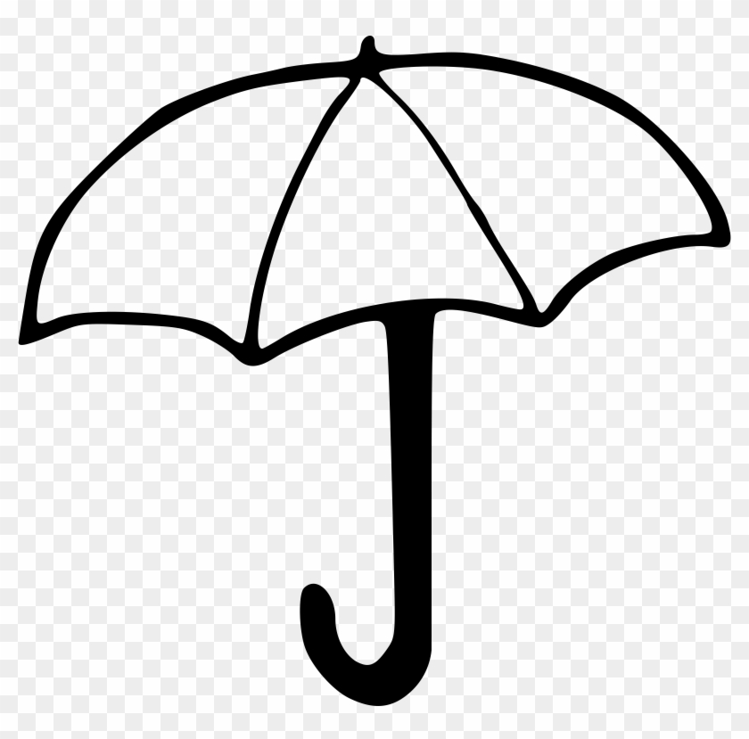 Beach Umbrella Clip Art Free Clipart Umbrella Outline - Drawing Image Of Umbrella #3647
