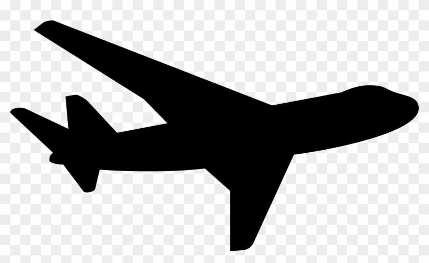 Clip Art Airplane Outline File Silhouette S Png Wikimedia - Plane Silhouette Png #3659