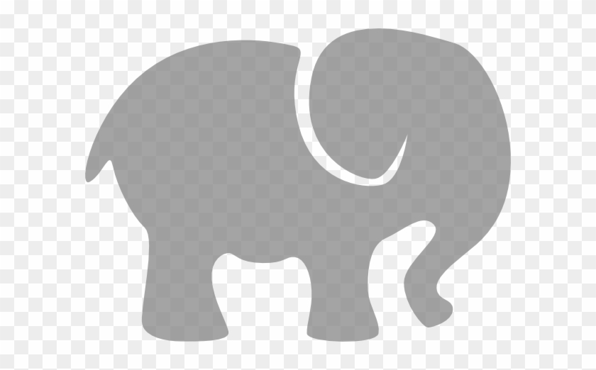 Elephant Silhouette Clip Art Gray Elephant Clip Art - Baby Elephant Silhouette Clip Art #3747