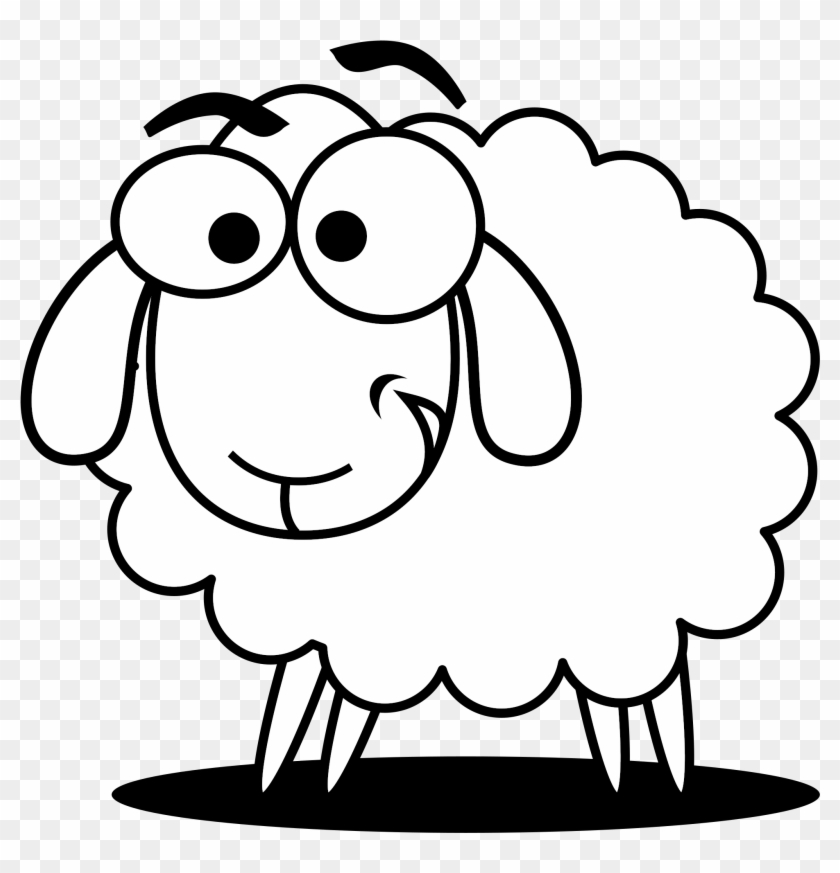 Sheep Clipart - Sheep Black And White #3684