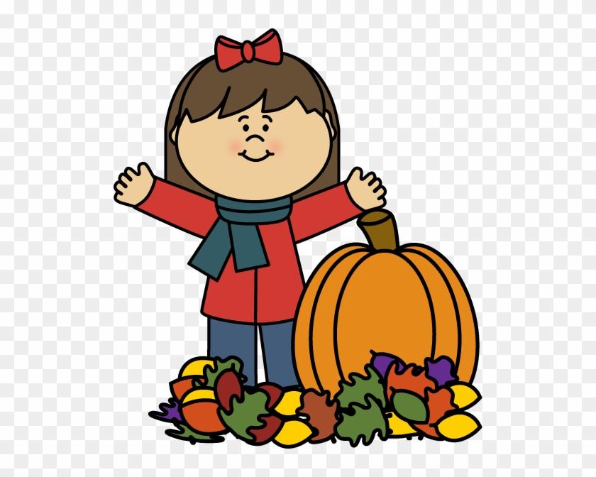 Autumn Girl Clip Art - Fall Clipart #3755
