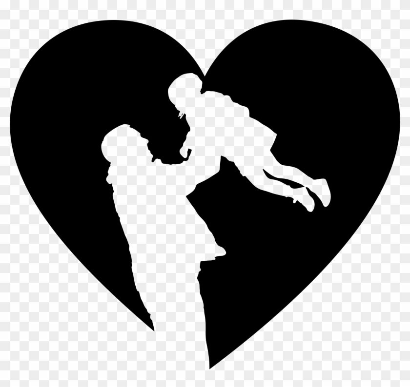 Big Image - Silhouette Father And Daughter #3725