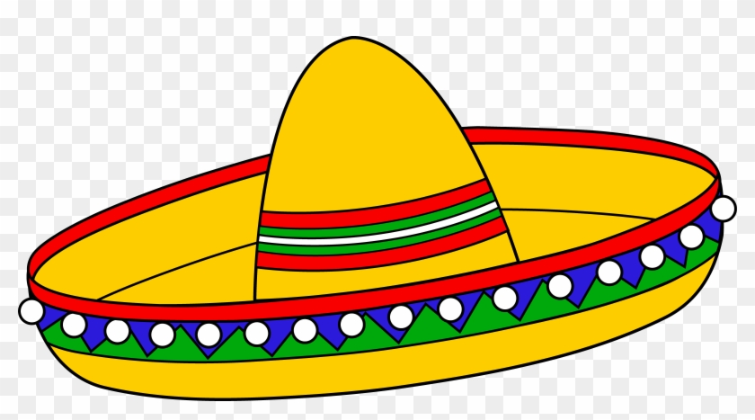Colorful Mexican Sombrero Hat - Cinco De Mayo Clip Art #3784