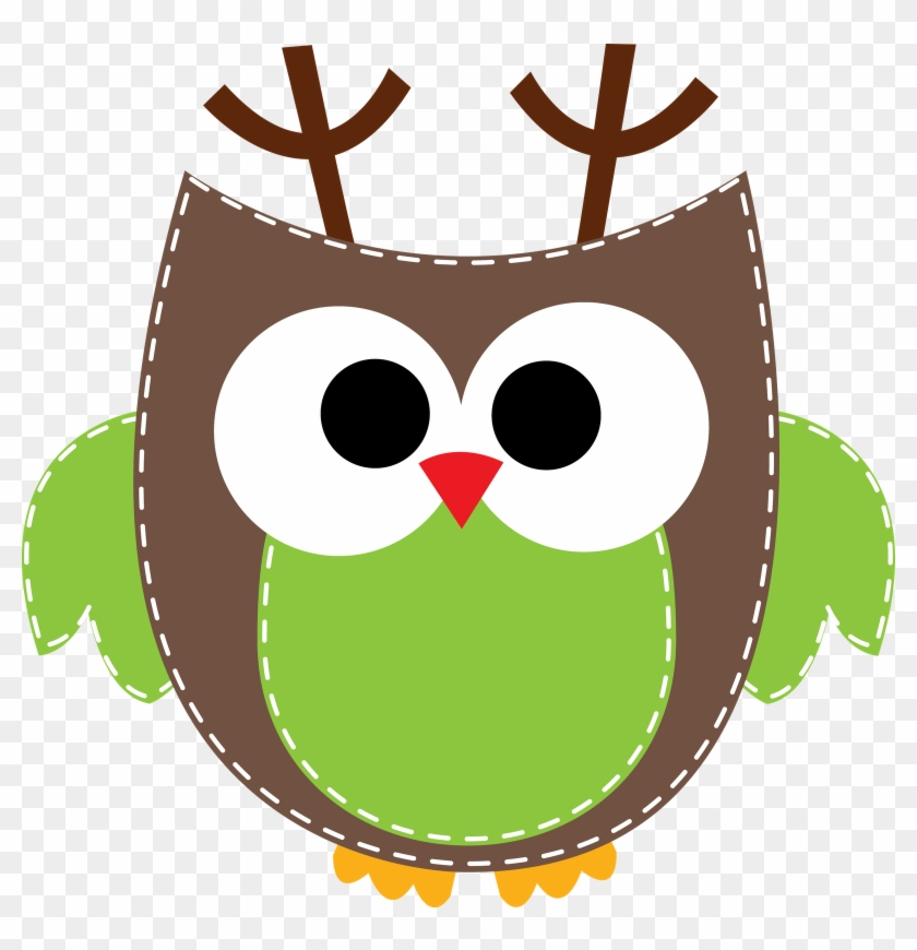 Holidays Owl Clip Art - Owl Border Clip Art #3796