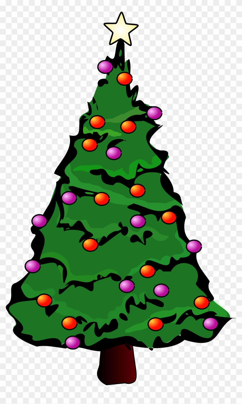 Christmas Tree Clip Art Free - Christmas Tree Greeting Cards - Free ...