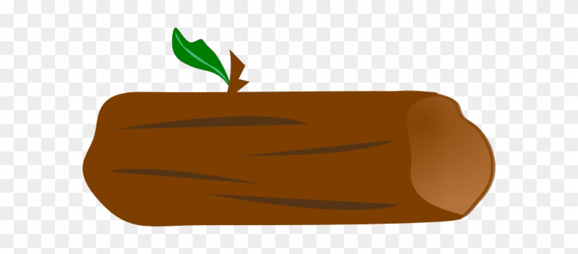 Brown Log With Green Leaf Clip Art At Vector Clip Art - Object Survival Island Bodies #3833
