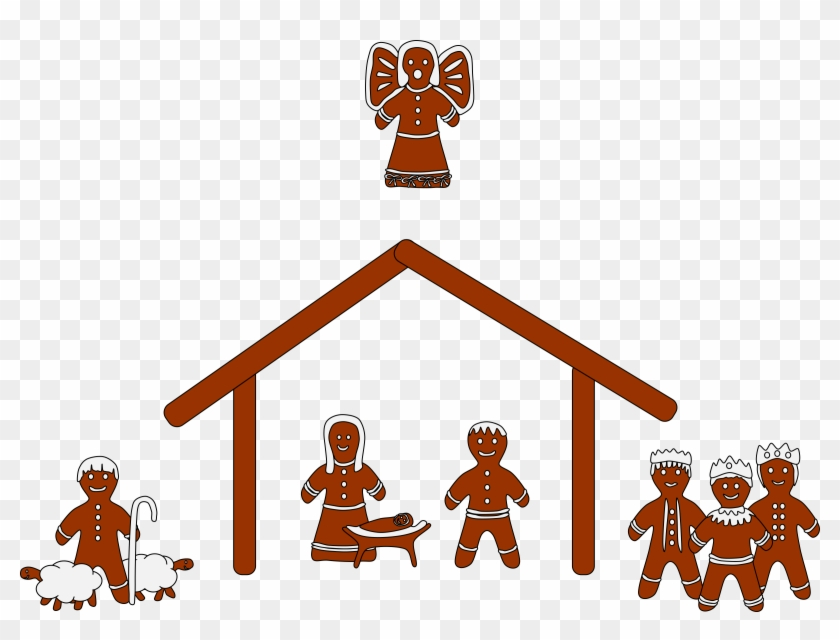 Free Nativity Clipart Silhouette Free Clipart Images - Gingerbread Nativity Clip Art #3811