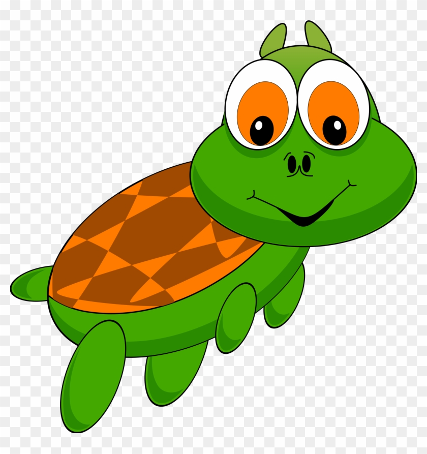 Cartoon Turtle With Red Hat - Moving Turtle Animation #3846