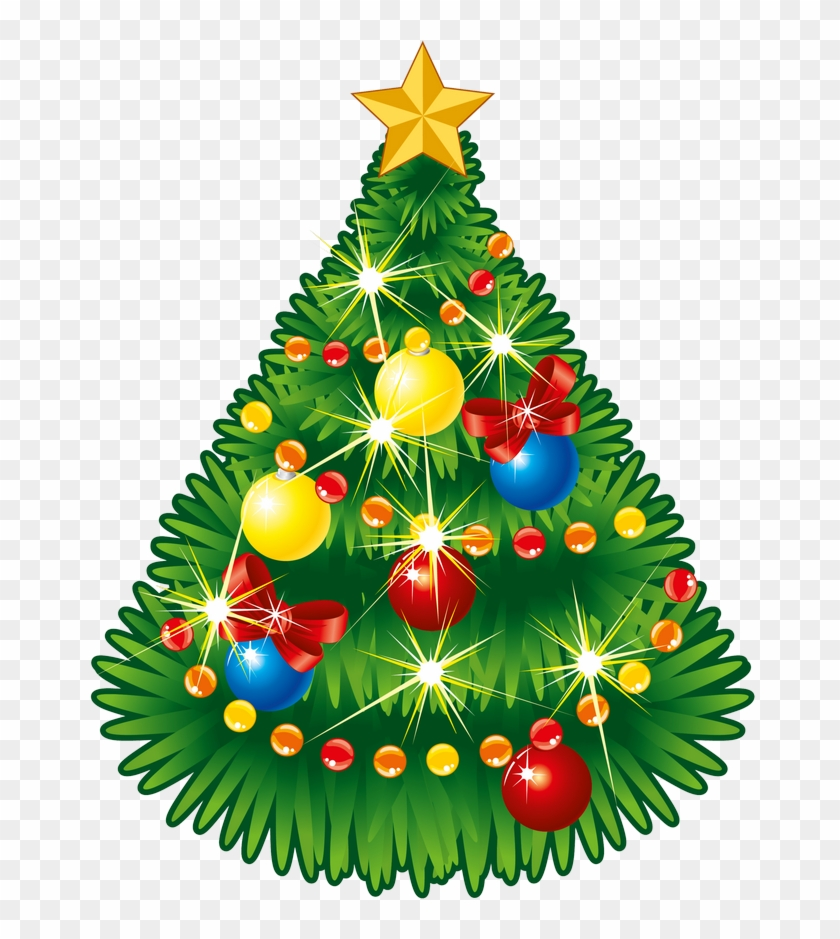 Image - Christmas Tree With Star Clip Art #3882
