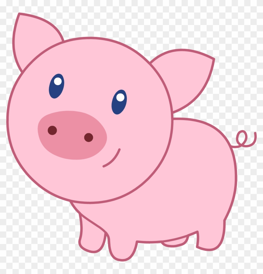 Cute Cartoon Pig Clipart - Cute Cartoon Pig Face #3925