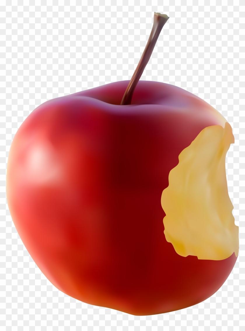 Bitten Apple Red Transparent Clip Art Imageu200b Gallery - Bitten Apple Red Transparent Clip Art Imageu200b Gallery #3940