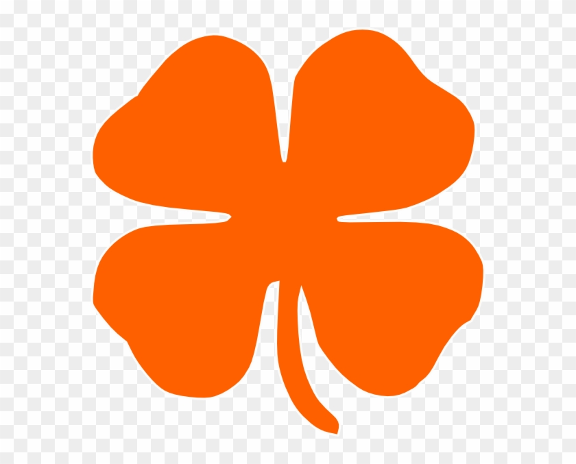 Orange Clover Clip Art #3911