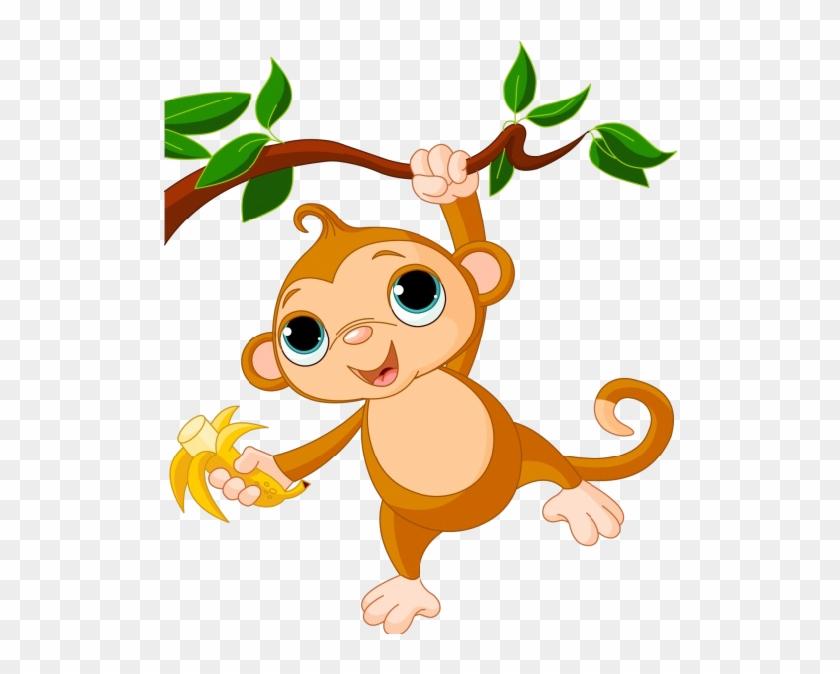 Monkey Images Clip Art - Cartoon Monkeys In A Tree #3868