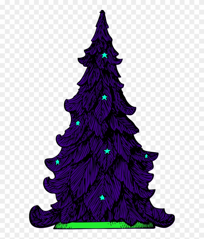 Pine Tree Silhouette Clip Art - Christmas Tree Clip Art #3891
