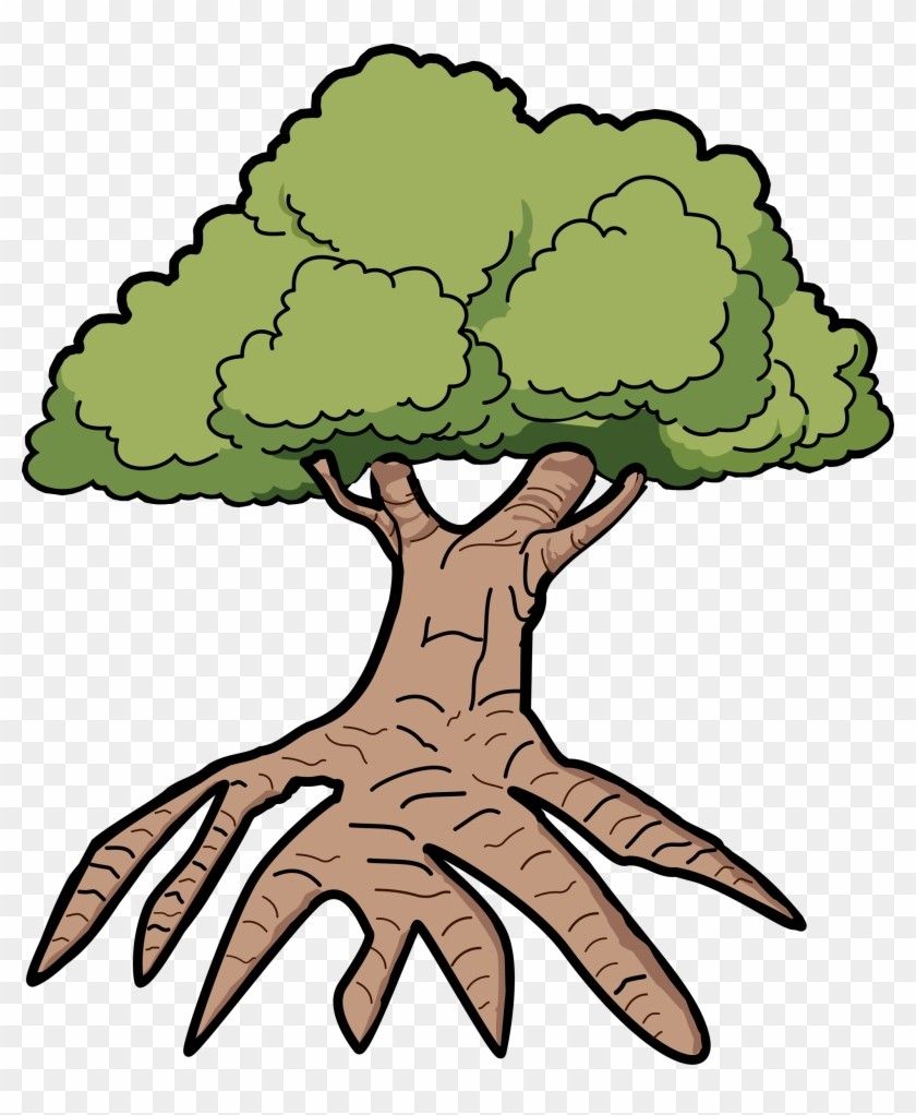 Tree With Long Roots - Tree Clip Art With Roots #3931