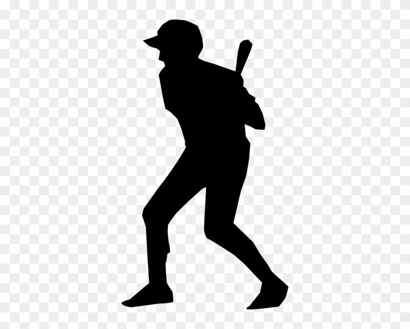 Baseball Silhouette Clip Art At Clker - Baseball Silhouette Shower Curtain #3889