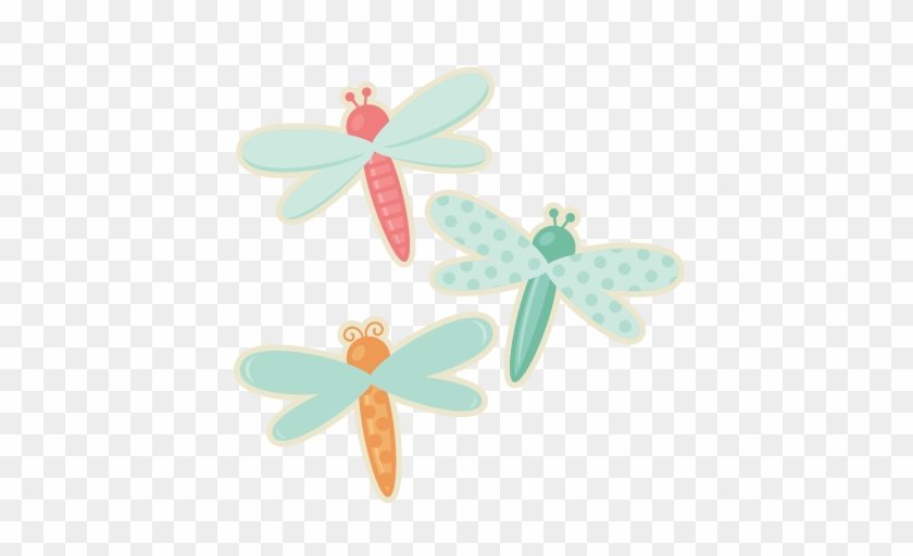 Dragonfly Set Svg Cutting File Cute Dragonfly Clipart - Dragonfly #3943