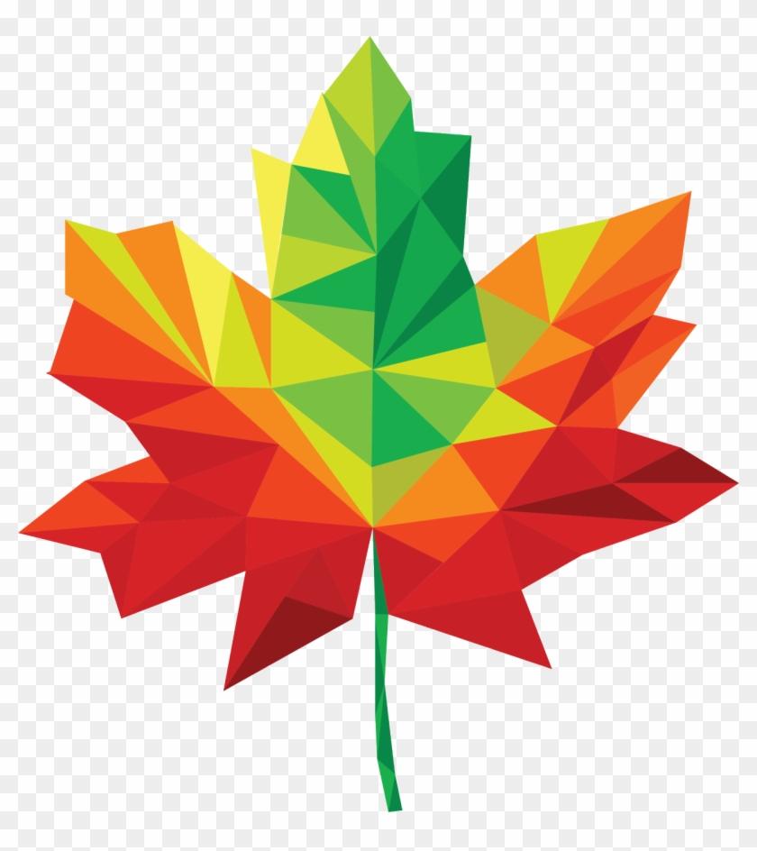 Maple Leaf Clip Art Free - Maple Leaf Geometric Png #3978