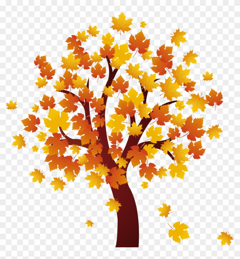 Autumn Clipart Autumn Maple Tree - Fall Tree Clip Art #3976