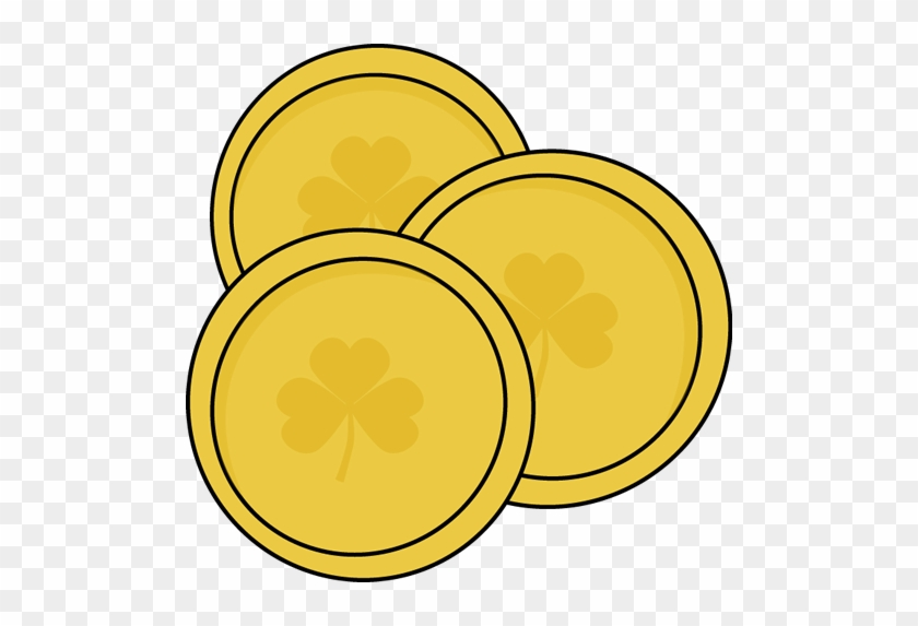 Gold Saint Patricks Day Coins
