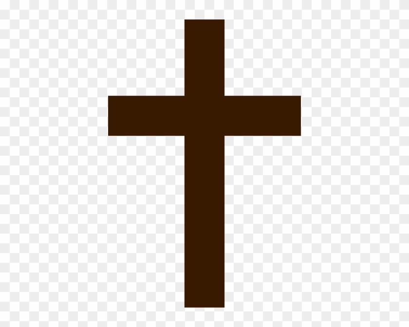Cross - Clipart - Brown Cross #3962