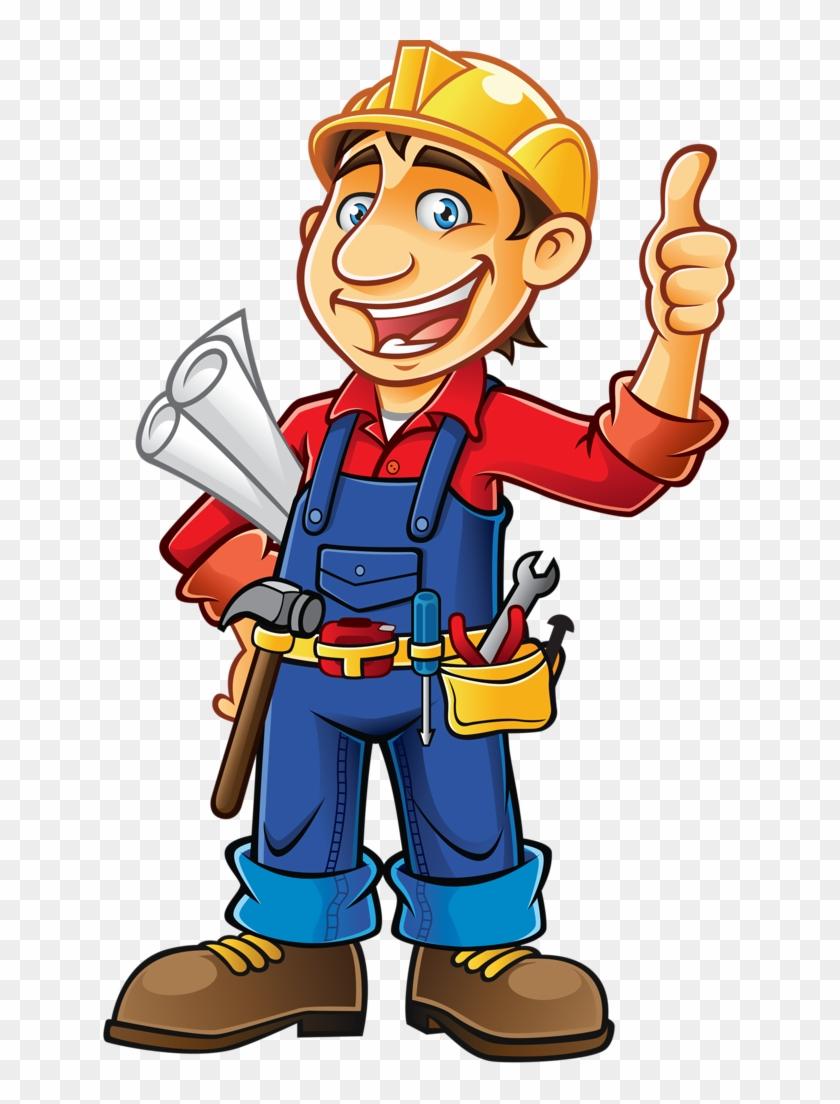 Profissões E Ofícios - Construction Worker Clipart #3977