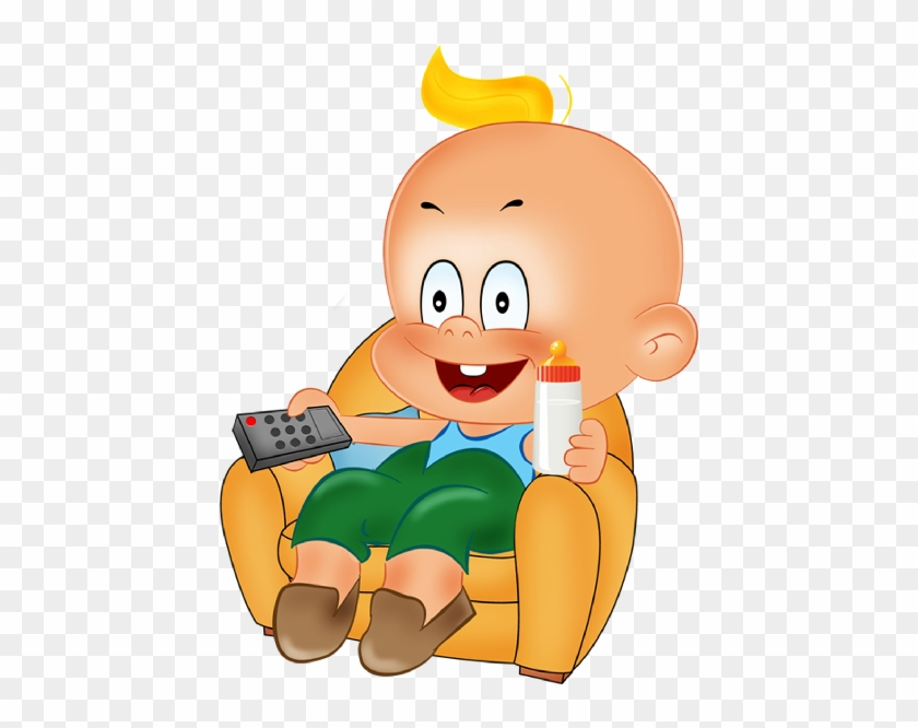 Funny Baby Boy Playing Cartoon Clipart - Funny Baby Boy Clipart #4005