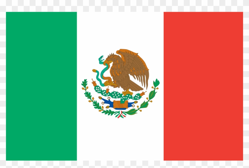 Mexican Flag Clip Art - Mexico Flag Drawing Easy #4033