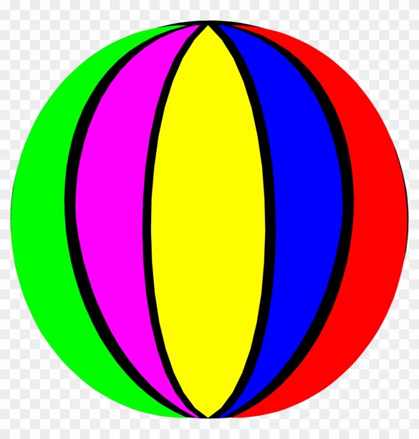 Beach Ball Tropical Beach Clip Art Free Clipart Ball - Beach Ball #3992
