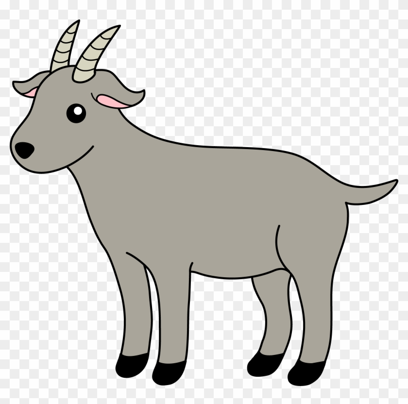 Little Gray Billy Goat Free Clip Art Animal Clipart - Goatclip Art #4080