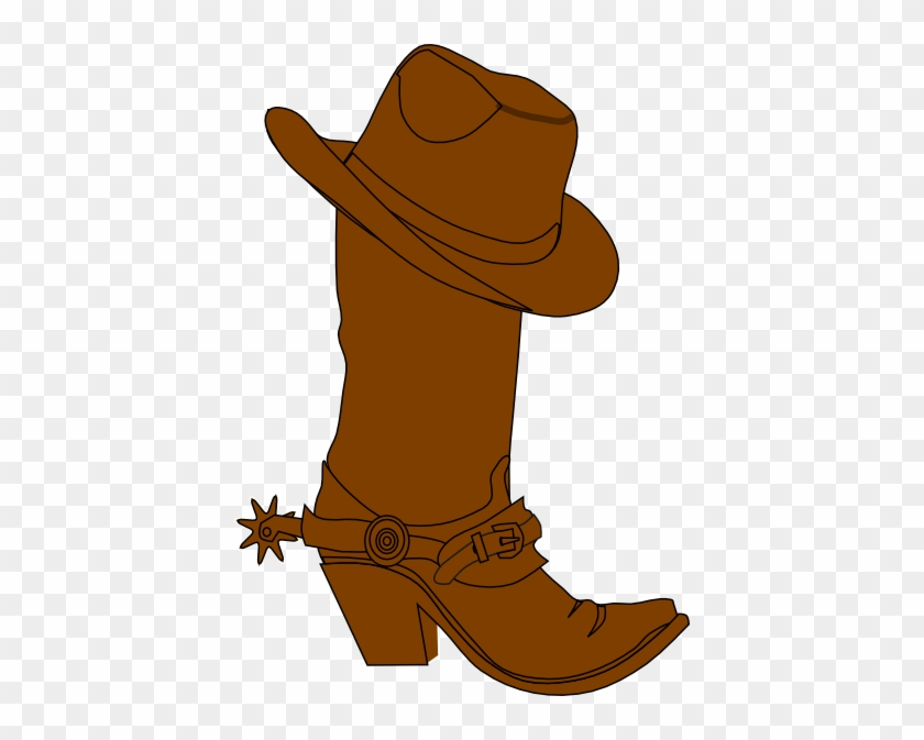 Cowboy Hat And Boot Clip Art At Clker - Cowboy Hat N Boots #4044