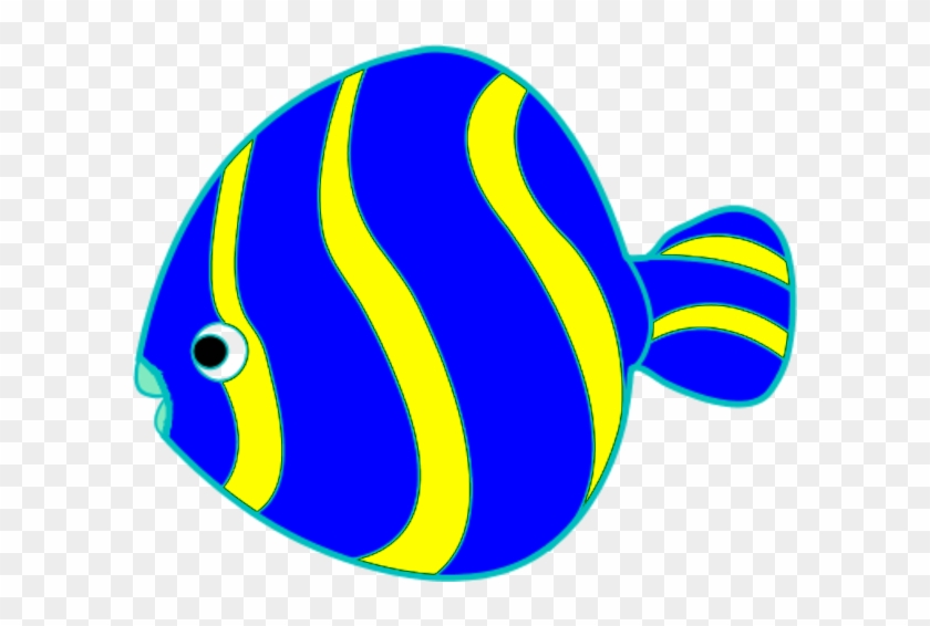 Yellow And Blue Fish Vector Clip Art - Fish Clipart #4018