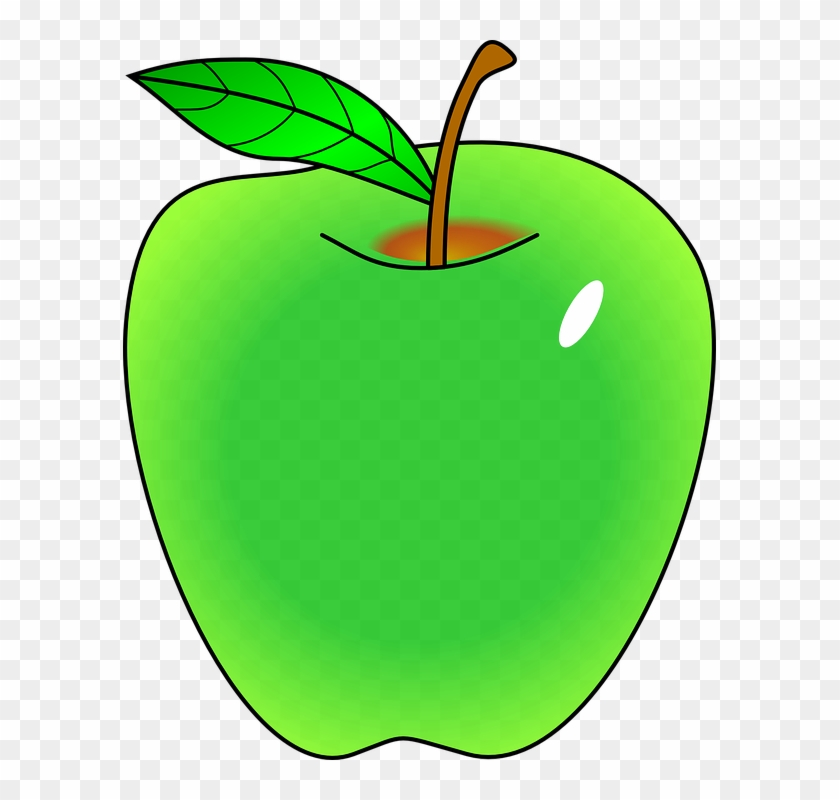 Green Apple Fruit Tree Smith Granny Tart - Clip Art Green Apple #4102