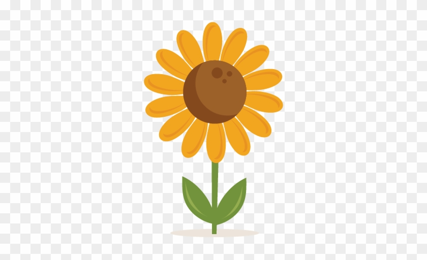 Sunflower Svg Scrapbook Cut File Cute Clipart Files - Sunflower Miss Kate Cuttables #4120