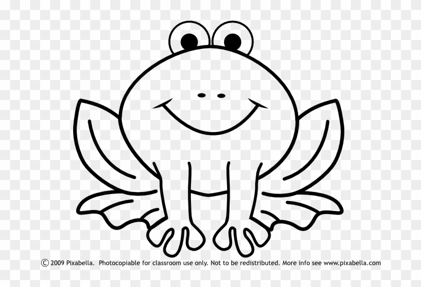 Cute Frog Clipart Black And White Free Clipart - F Is For Frog #4065