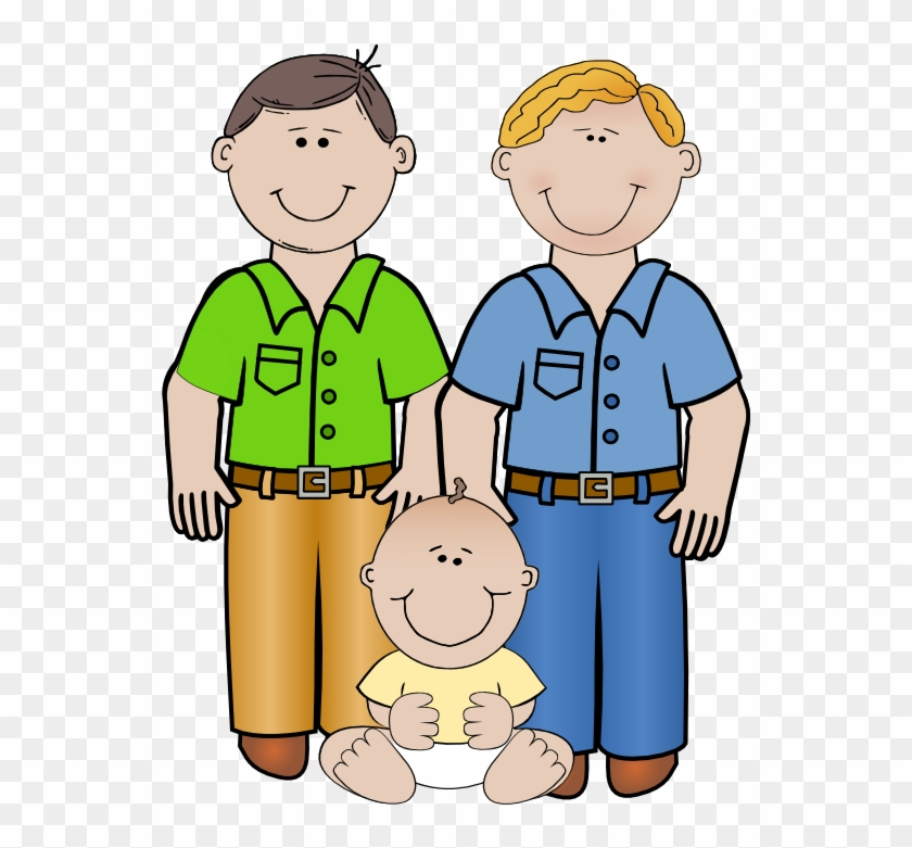 Family Clipart Hd 2018 - Same Sex Family Cartoon #4170