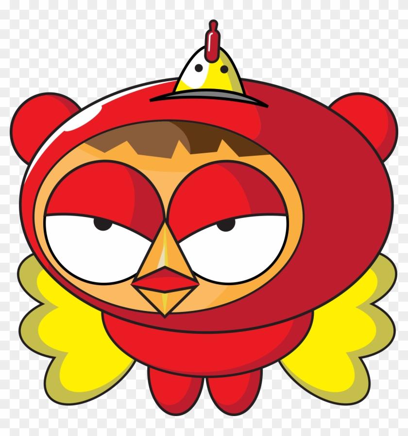 Cartoon Superhero Chicken Clipart Vector Clip Art - Superhero Chicken #4245