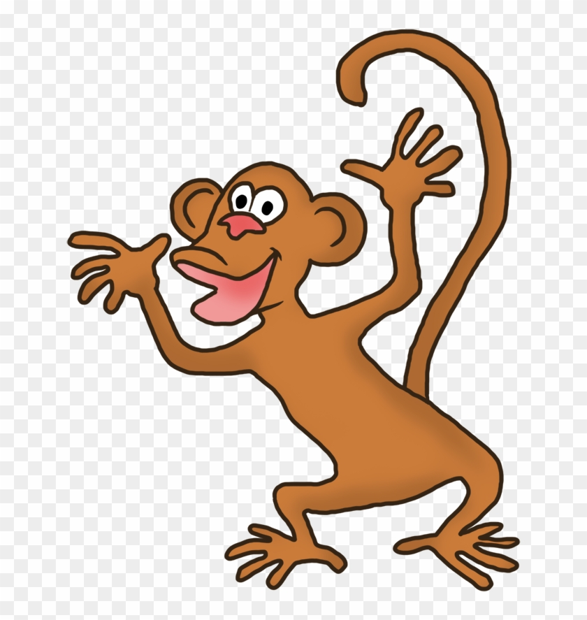 Huge Monkey Clipart, Funny Monkey Clipart - Monkey Gif Cartoon Transparent Back #4191