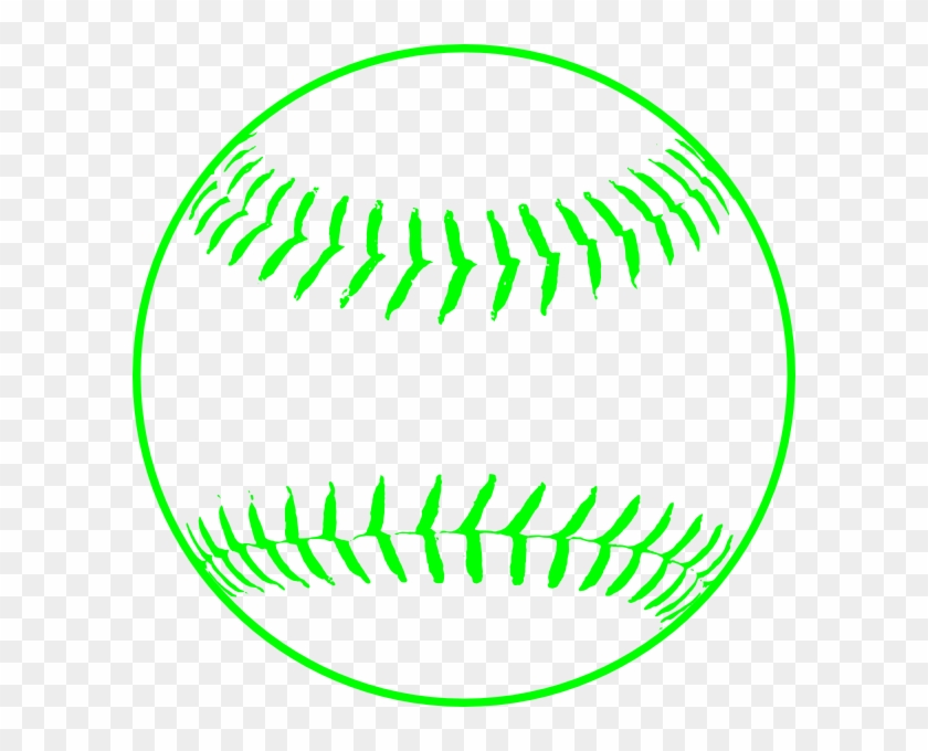 Green Softball Clip Art - Baseball Clipart #4161