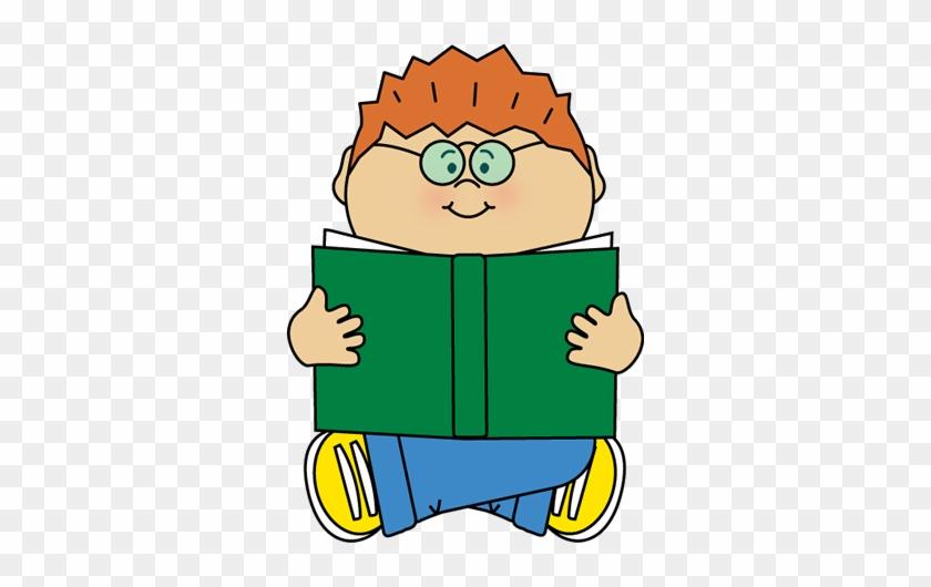 Boy Reading Alone Clip Art - Clip Art Boy Reading #4232