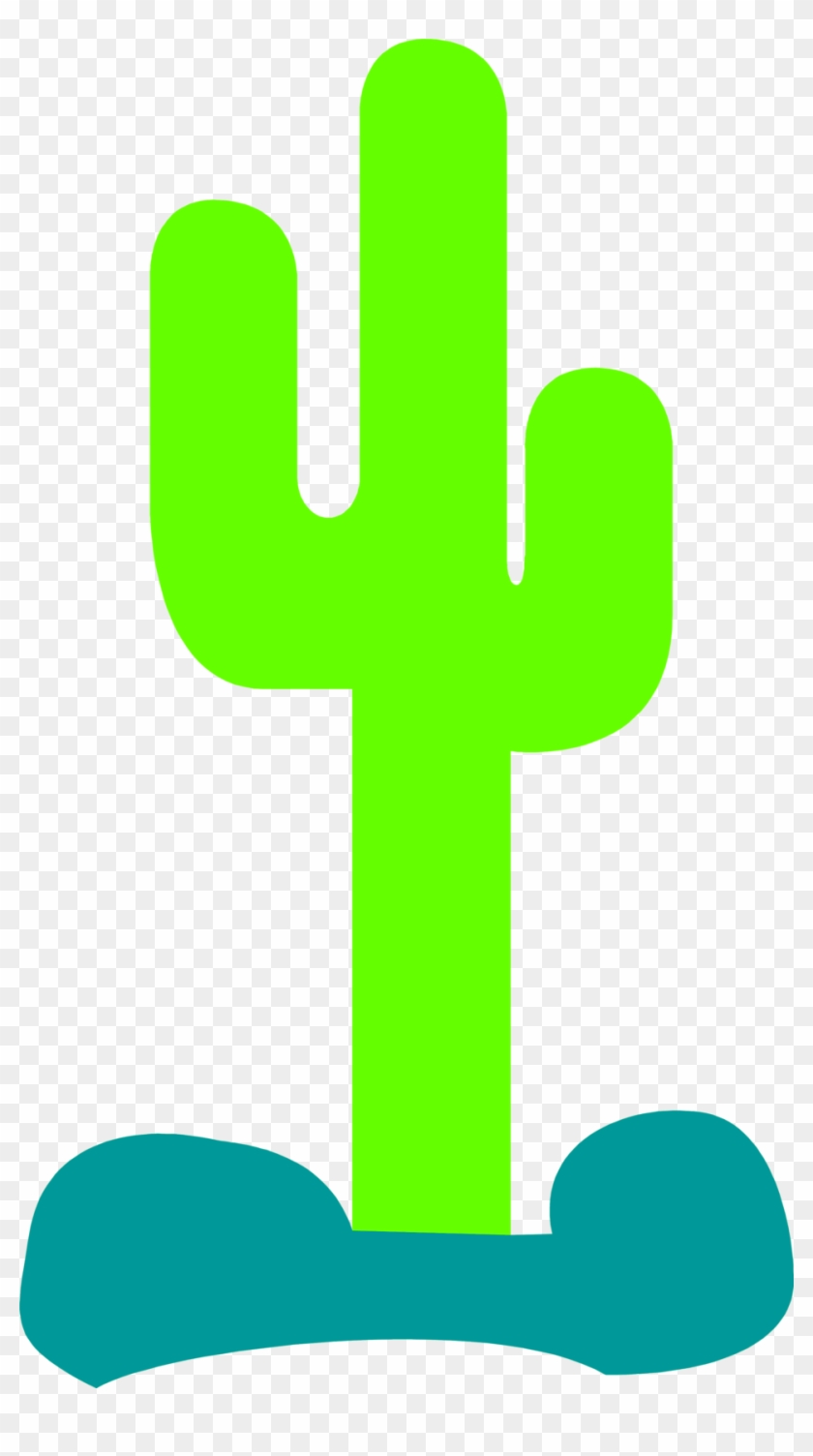 Cactus Silhouette Clip Art - Cactus Clip Art Outline #4225