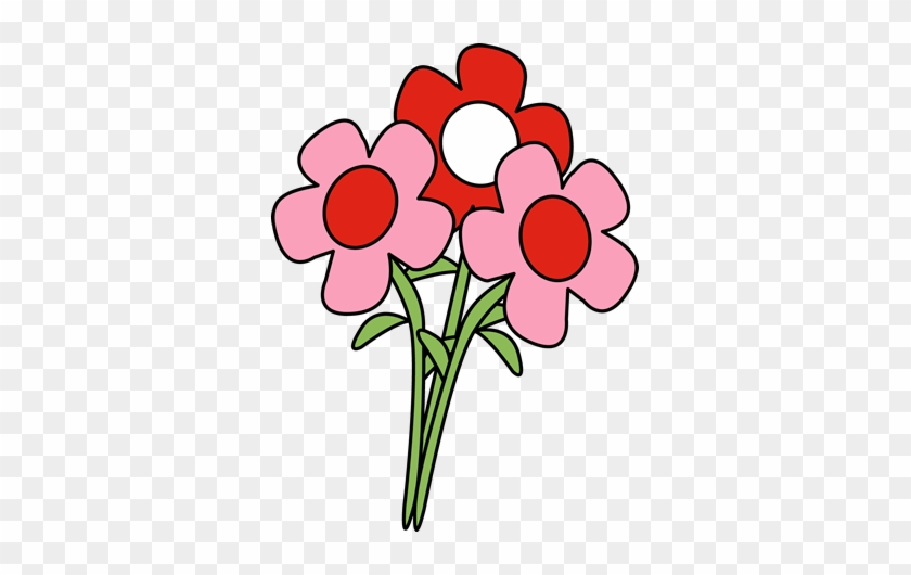 Pretty Valentine's Day Flowers Clip Art - Valentine Flowers Clip Art #4309