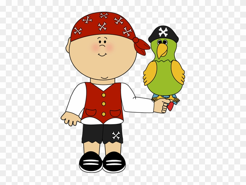 Pirate With Parrot - Pirate With Parrot Clipart #4328