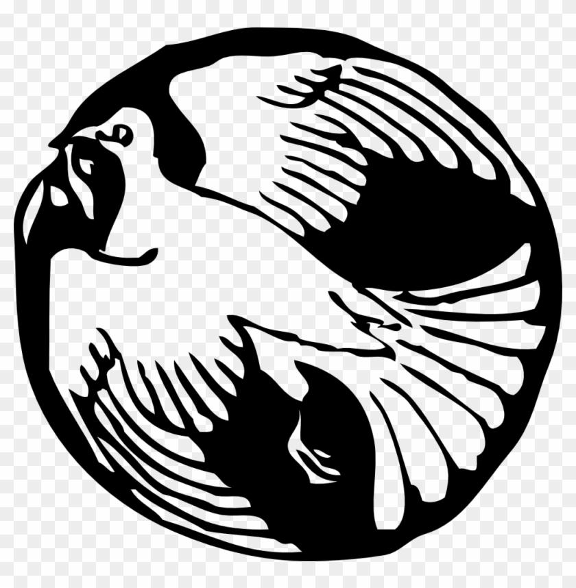 Free Vector Dove In Circle Clip Art - Dove Clip Art #4285