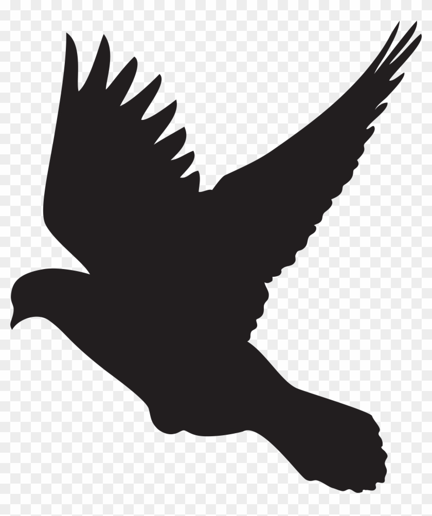 Flying Dove Silhouette Png Clip Art - Flying Dove Silhouette Png Clip Art #4384