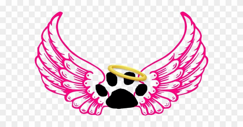 Animal Angel Clip Art - Angel Wings With Halo #4344